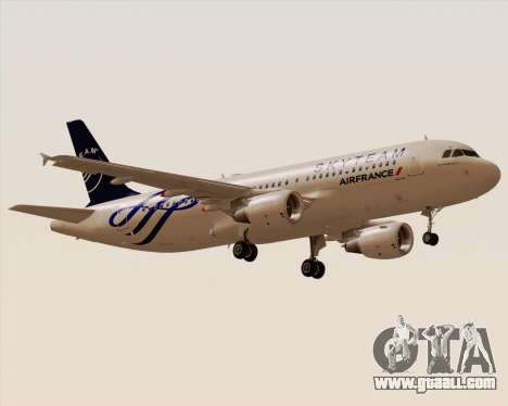 Airbus A320-200 Air France Skyteam Livery for GTA San Andreas right view