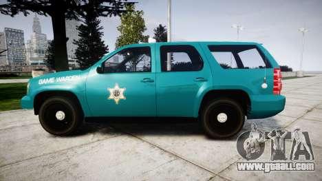 Chevrolet Tahoe 2013 Game Warden [ELS] for GTA 4 left view