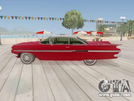 Chevrolet Impala 1959 for GTA San Andreas right view