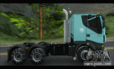 Iveco Trakker 2014 Snow for GTA San Andreas back left view