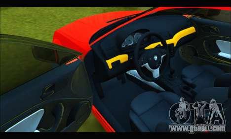 BMW e46 Sedan V2 for GTA San Andreas inner view