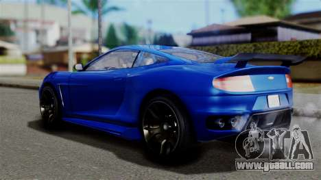GTA 5 Dewbauchee Massacro Racecar for GTA San Andreas left view