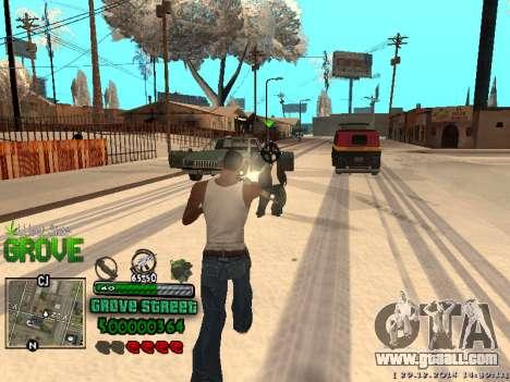 C-HUD Grove Street for GTA San Andreas ninth screenshot