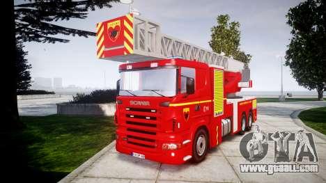 Scania R580 Paris Fireladder [ELS] for GTA 4