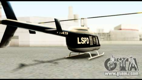 Beta Police Maverick for GTA San Andreas left view