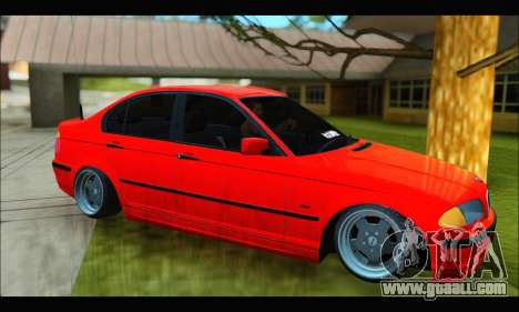 BMW e46 Sedan V2 for GTA San Andreas back left view