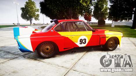 BMW 3.0 CSL Group4 1973 Art for GTA 4 left view