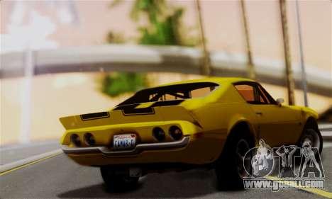 Chevrolet Camaro Mk.II for GTA San Andreas left view