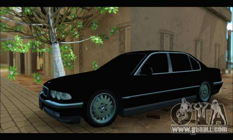 BMW 750iL for GTA San Andreas back left view