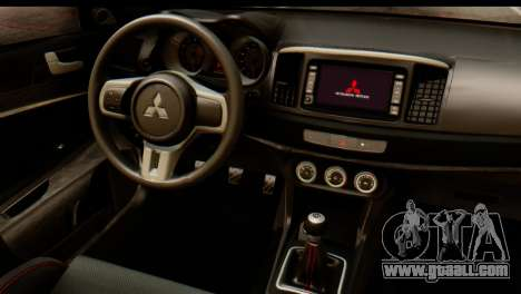 Mitsubishi Lancer Evolution FQ-400 V2 for GTA San Andreas back view
