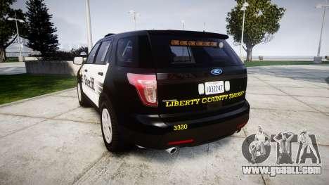 Ford Explorer 2013 County Sheriff [ELS] for GTA 4 back left view