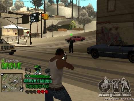 C-HUD Grove Street for GTA San Andreas third screenshot