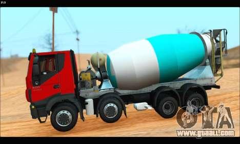 Iveco Trakker 2014 Concrete (IVF & ADD) for GTA San Andreas left view