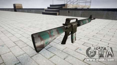 The M16A2 rifle warsaw for GTA 4 second screenshot