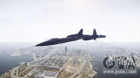 Lockheed SR-71 Blackbird for GTA 4 right view