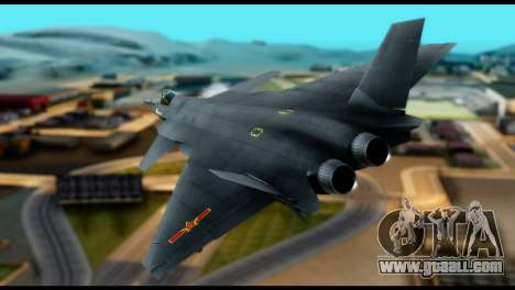 Chenyang J-20 BF4 for GTA San Andreas left view