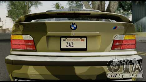 BMW M3 E36 Camo Drift for GTA San Andreas