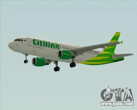 Airbus A320-200 Citilink for GTA San Andreas inner view