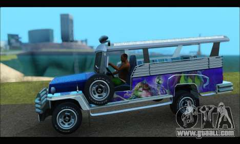Jeepney from Binan for GTA San Andreas back left view