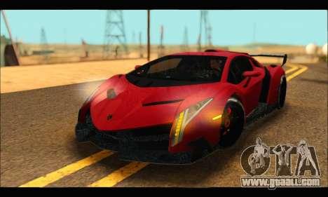 Lamborghini Veneno 2013 HQ for GTA San Andreas back view