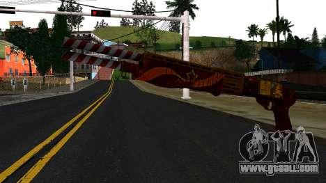 Christmas Combat Shotgun for GTA San Andreas