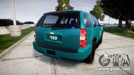 Chevrolet Tahoe 2013 Game Warden [ELS] for GTA 4 back left view