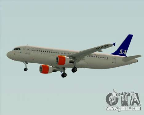 Airbus A320-200 Scandinavian Airlines - SAS for GTA San Andreas back view