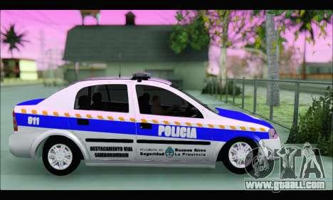 Chevrolet Astra Policia Vial Bonaerense for GTA San Andreas left view