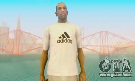 Adidas Shirt White for GTA San Andreas third screenshot