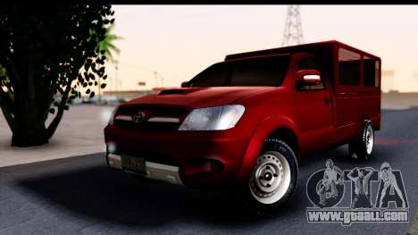Toyota Hilux FB for GTA San Andreas