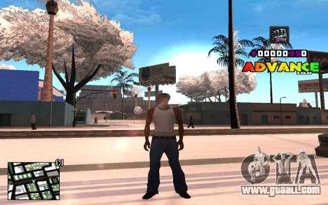 C-HUD Advance RP for GTA San Andreas