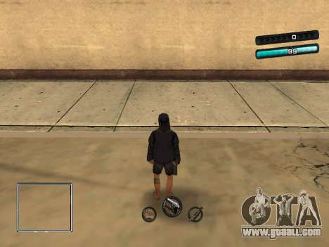 C-HUD Azure for GTA San Andreas second screenshot