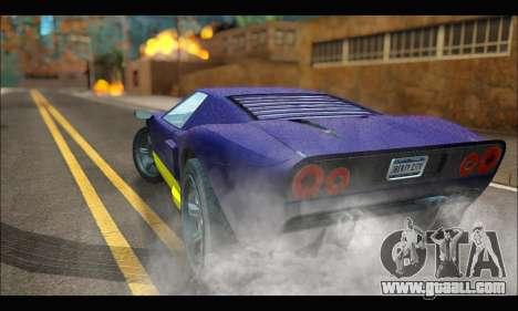 Vapid Bullet Gt (GTA IV) (LC Plate) for GTA San Andreas back left view