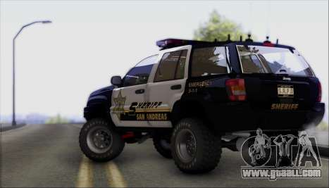 Jeep Grand Cherokee 1999 Sheriff for GTA San Andreas back view