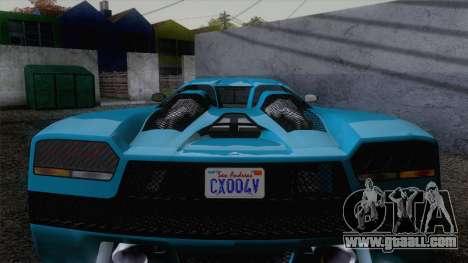 GTA V Overflod Entity XF v.2 for GTA San Andreas right view