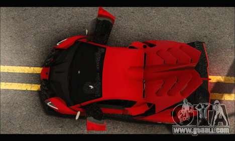 Lamborghini Veneno 2013 HQ for GTA San Andreas upper view