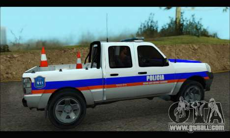 Ford Ranger 2011 Patrulleros CPC for GTA San Andreas back left view