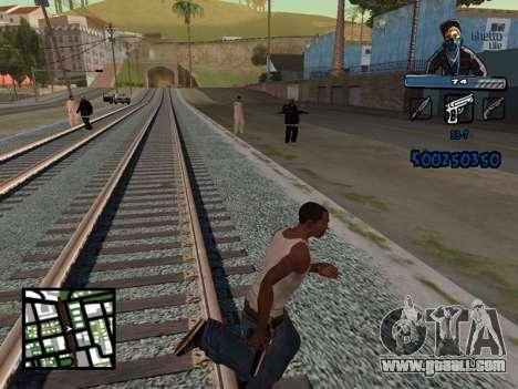 C-HUD Unique Ghetto for GTA San Andreas third screenshot