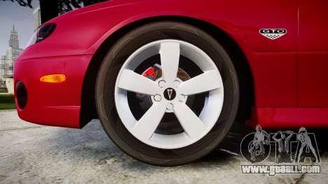 Pontiac GTO 2006 18in wheels for GTA 4 back view