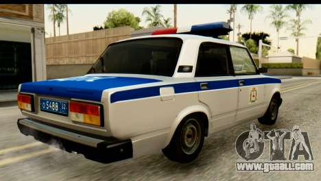 VAZ 2107 DPS for GTA San Andreas left view