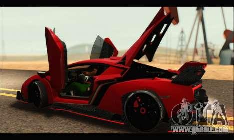 Lamborghini Veneno 2013 HQ for GTA San Andreas side view