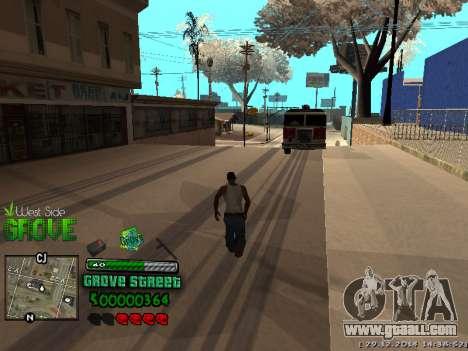 C-HUD Grove Street for GTA San Andreas seventh screenshot