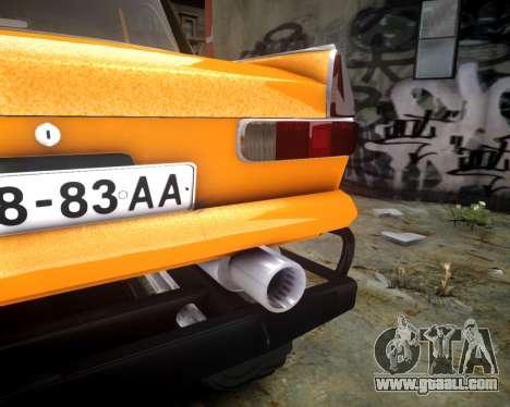Moskvich 412 Monster for GTA 4 inner view