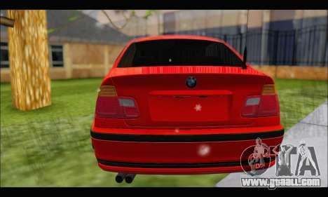 BMW e46 Sedan V2 for GTA San Andreas back view