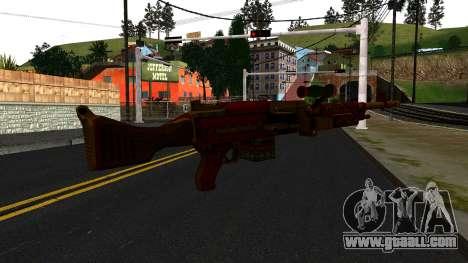 Christmas Minigun for GTA San Andreas second screenshot