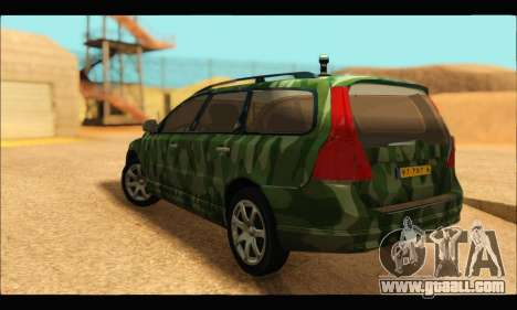 Volvo V70 Camo for GTA San Andreas left view
