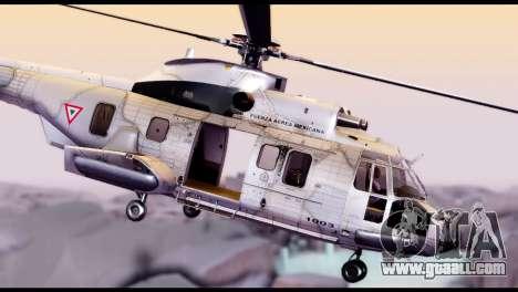 EC-725 Super Cougar for GTA San Andreas back left view