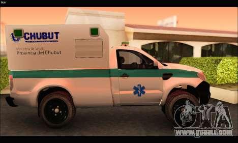 Ford Ranger 2013 Ambulancia Chubut for GTA San Andreas left view