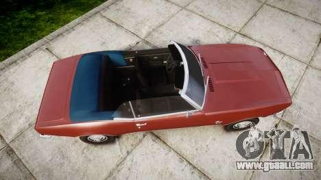 Chevrolet Camaro Mk.I 1968 rims1 for GTA 4 right view