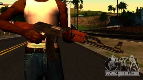 AK47 from GTA 4 for GTA San Andreas third screenshot